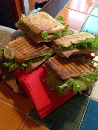 Il Gallo Nero: My panino with ham, artichokes and gorgonzola cheese