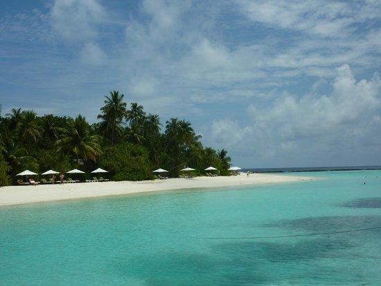 """Vakarufalhi Island Resort: Beachvillen """"jeder hat sein eigenes Plätzchen"""""""