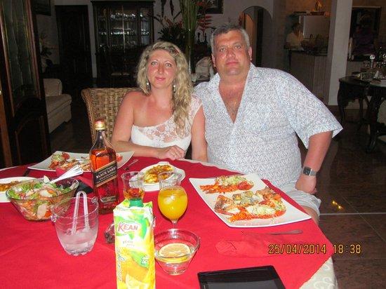 Le Bonheur Villa: Ужин
