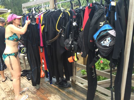 Subway Watersports: Outdoor drying racks