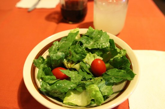 White Chief Mountain Lodge: Uninspired salad at the restaurant, don't eat there.