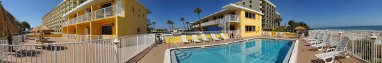 """OceanFront Inn and Suites: Pool and """"City View"""" rooms."""