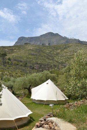 Yoga Holidays Spain - Casa de Carrasco : View from our tent