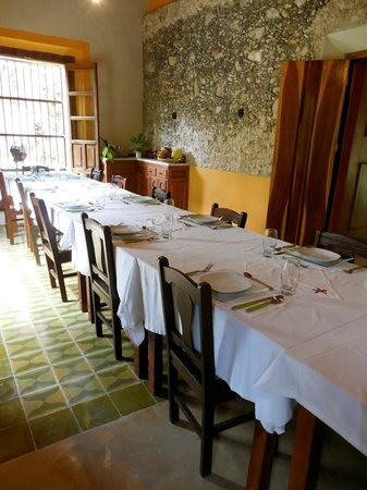 Hotel Hacienda San Francisco Tzacalha : Dining room