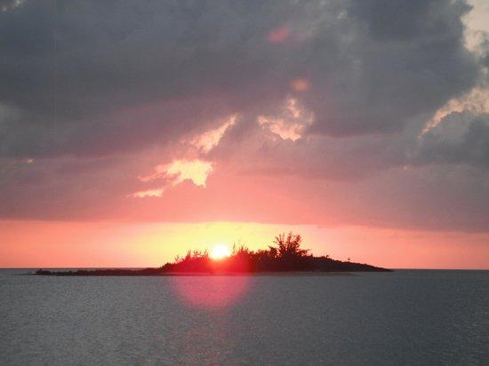 Grotto Bay Bahamas: Sunset from Grotto Bay