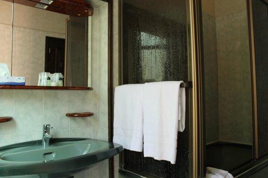 Hotel St Merry: Ванная комната с душем и раковиной