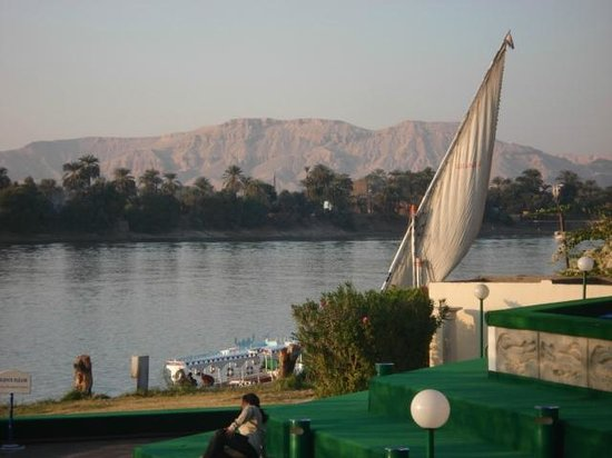 Jolie Ville Hotel & Spa - Kings Island, Luxor : View from the restaurant patio