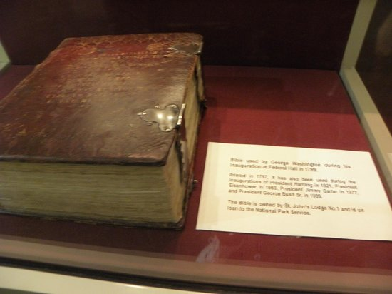Federal Hall: Inside the Memorial - the bible used to swear in George Washington