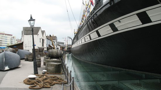 Brunel's SS Great Britain : The view from the quay.