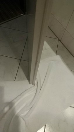 Sheraton Munchen Westpark Hotel: Door runs into bath towel on floor