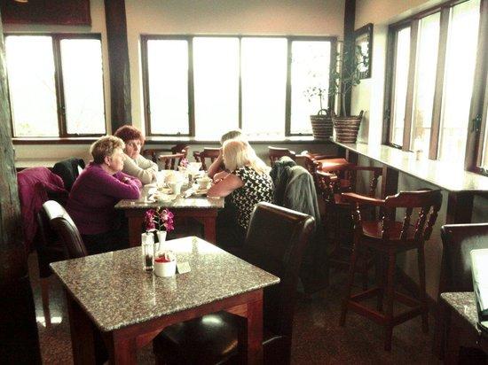 Thai Teak: Inside the cafe.  Lovely atmosphere :-)