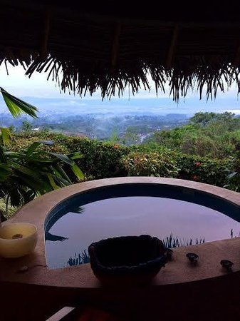 Xandari Resort & Spa : View from the spa hot tub/jalapas