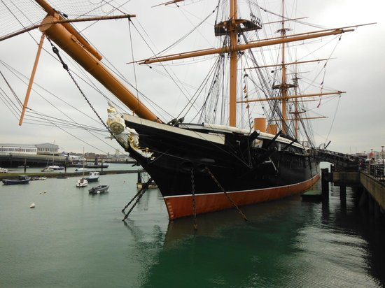 The George Hotel: HMS Warrior, Royal Dockyard Portsmouth, 1/2 block from George Hotel