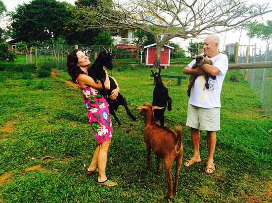 Laurelee Blanchard and Barry Sultanoff at Leilani Farm Sanctuary