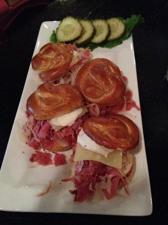 Naggy McGee's Irish Restaurant and Pub : Corned beef sliders!!! Make sure you add Swiss cheese...oh man...