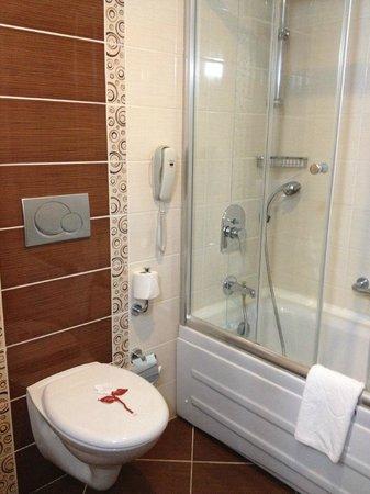 Harrington Park Resort : Clean bathroom with the half-sized bathtub