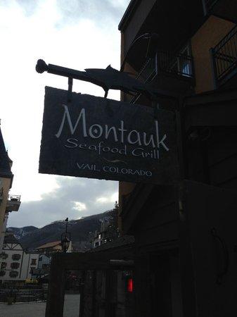 Montauk Seafood Grill: Restaurant sign