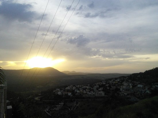 Safed, Israel: Across Tz'fat to Mt. Meron at sunset
