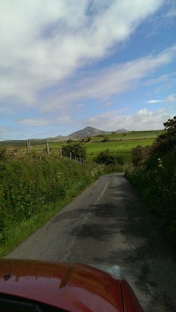 The road leading to Hendre Barns set in stunning countryside