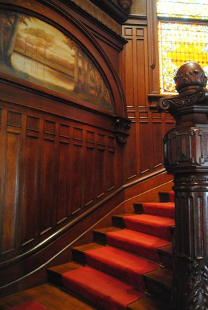 Bishop's Palace: The main stair case was one of the most impressive areas of the house