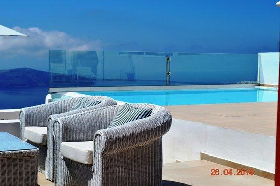La Maltese Estate Villa: Vue du cratère depuis la terrasse