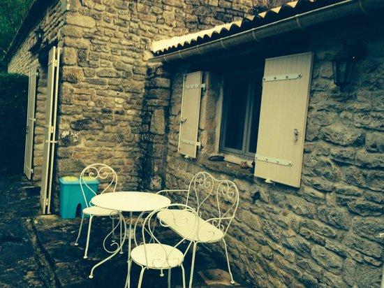 Sainte-Soline, Francia: La terrasse