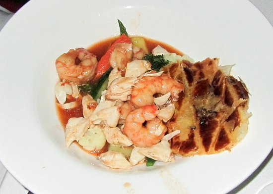 Infiniti Restaurant & Raw Bar : Shrimp Pot Pie served