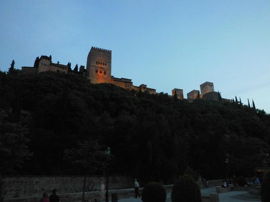 Restaurante Ruta del Azafran: View of the Alhambra from the terrace of Ruta del Azafran.