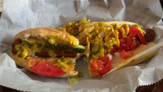 The Filling Station Deli Sub Shop: The Chicago Hot Dog