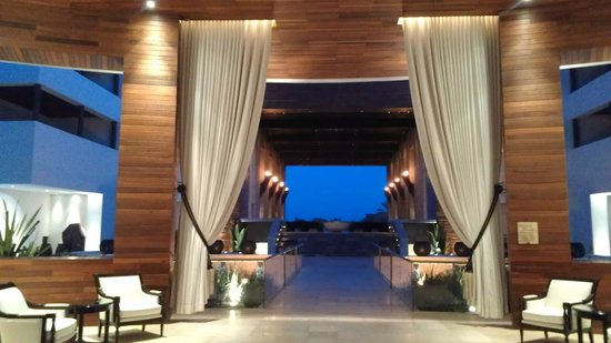 Cabo Azul Resort: View from new lobby looking out through the chapel.