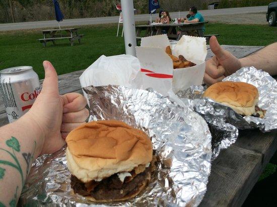 Burgers at the Burger Barn
