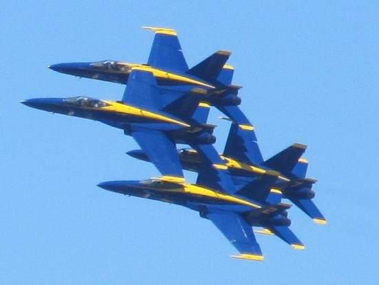 Pensacola Naval Air Station: They fly by so close it will blow your hair back...  well almost.