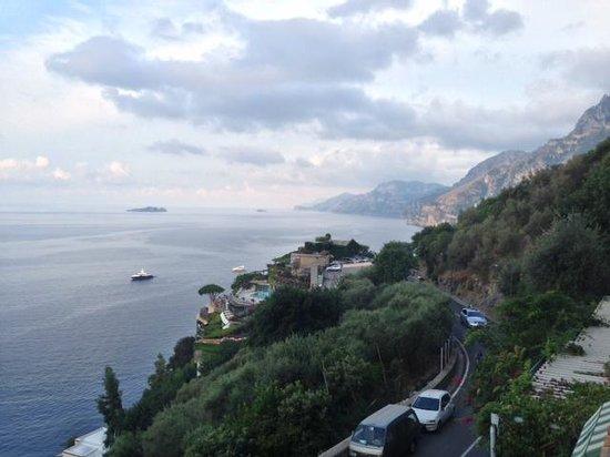 Al Barilotto Del Nonno: View of Positano (centro) and the Mediterranean from private terrace