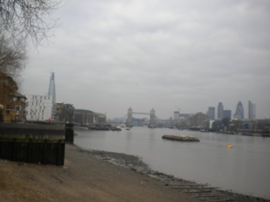 Thames River: view of Tower Bridge from the East