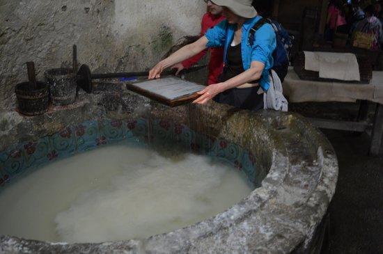 Museo della Carta: La pasta fatta con gli stracci
