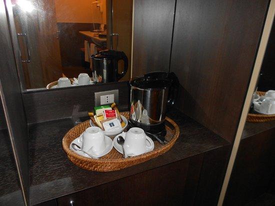 Villa Maria Hotel & SPA: bollitore in camera con varie tisane