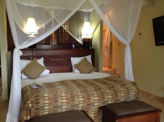 The David Livingstone Safari Lodge & Spa : My first room before I requested a new one due to location