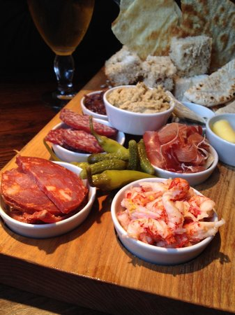 The Red Hart: The deli sharer, we always have this when we come. Best sharing board you'll find