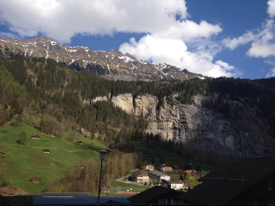 Hotel Silberhorn: View from our balcony!