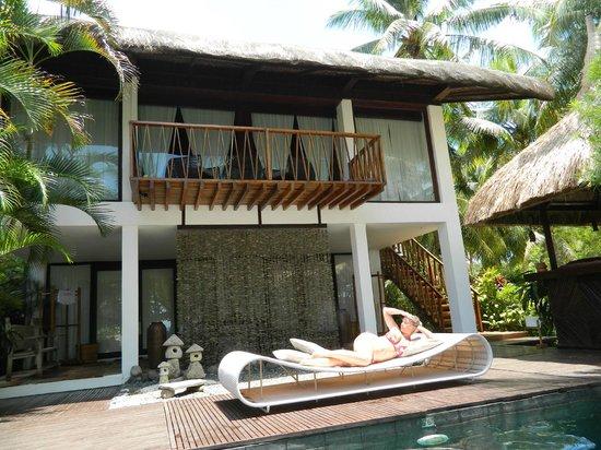 The Ananyana Beach Resort & Spa: Наш номер 1 этаж и бассейн