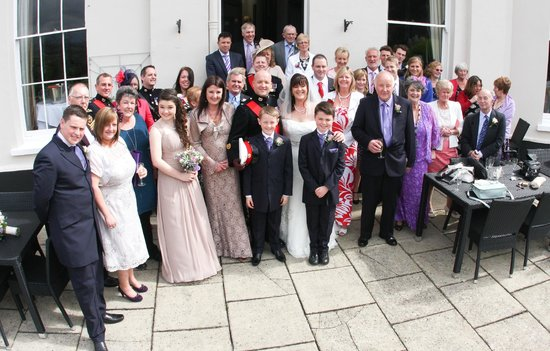 The Mount Somerset Hotel: wedding party on the terrace