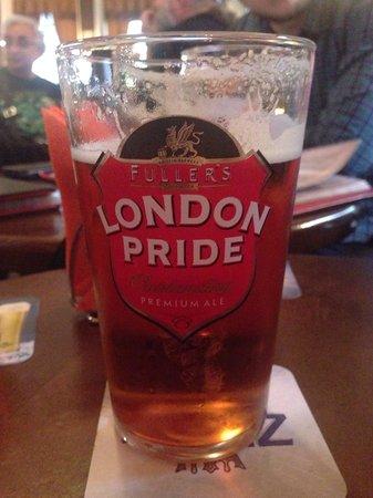 Bobby Dazzler: London pride beer