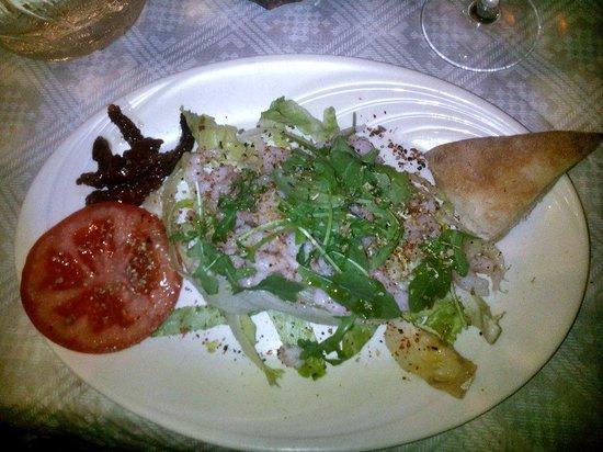Pompei: Салат с креветками