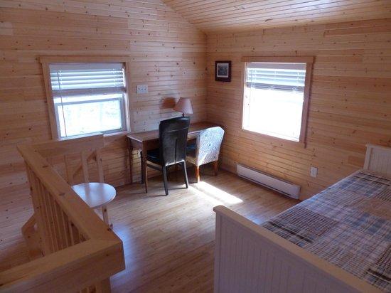 Horseblock Point Cottages : chambre etage mezzanine