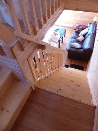 Horseblock Point Cottages : escalier