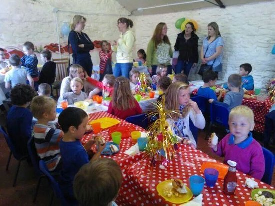 Putlake Adventure Farm: party room. perfect in size and grest food