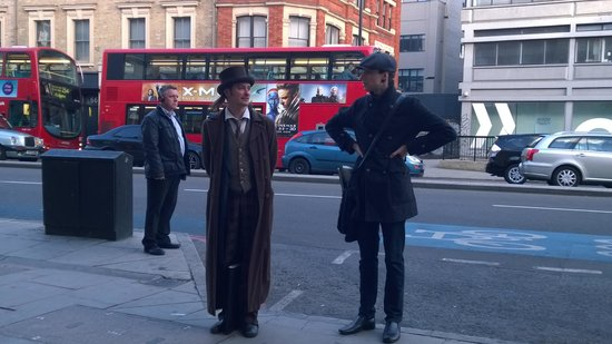 The Jack the Ripper Tour With Ripper Vision: John and Mick, Mick's to the right...