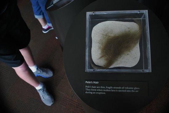 Thomas A. Jaggar Museum: Pele's hair (Mike's feet)