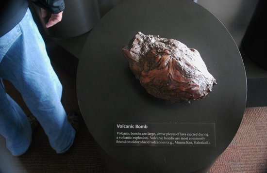 Thomas A. Jaggar Museum: De bomb (volcanic that is)