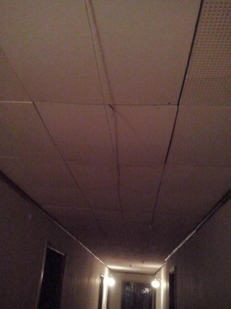 Hotel Metropolis: Ceiling on the corridor